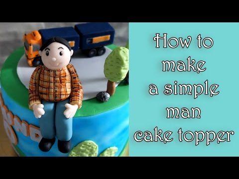 How to make a simple fondant man figure / Jak zrobić prostą figurkę mężczyzny z masy cukrowej - YouTube