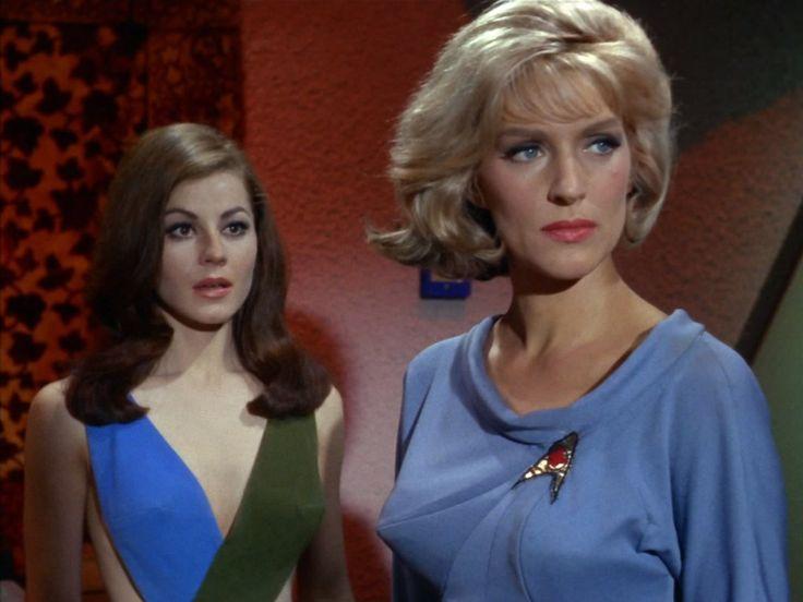 Majel Barrett and Sherry Jackson in Star Trek (1966)