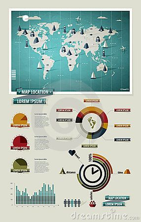 66 best infographic images on pinterest infographics health set elements of infographics world map by dmitry fetisov via dreamstime sciox Images