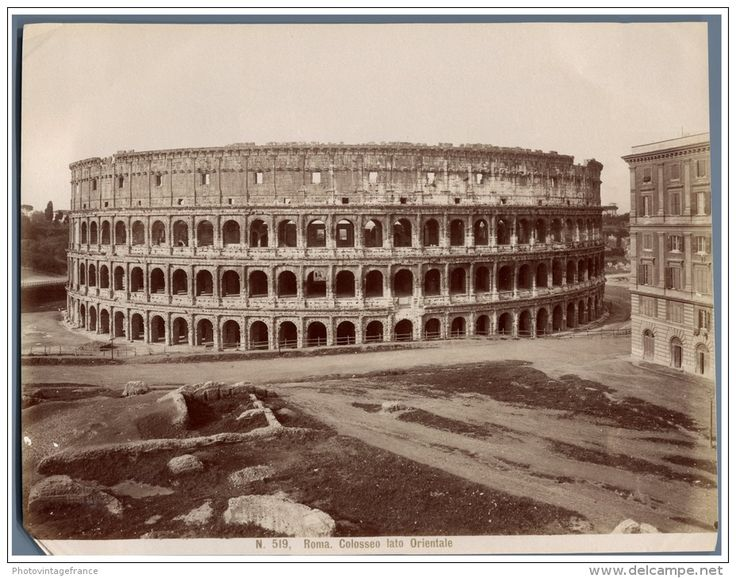 Italie, Roma, Colosseo Circa 1880