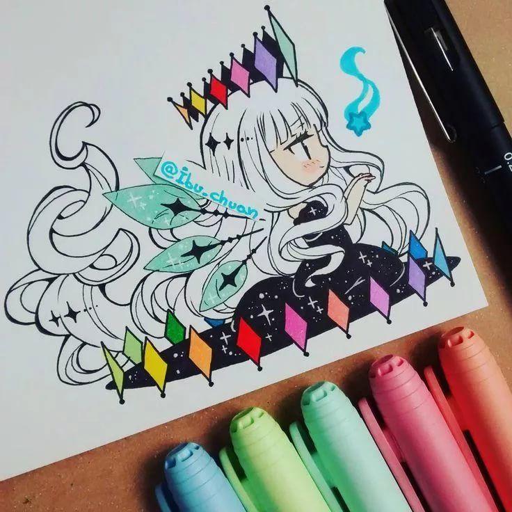 Рисунки фломастерами легко нарисовать