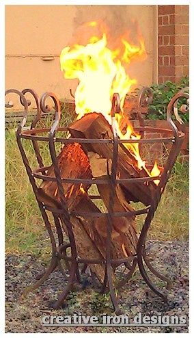 Art Creative Iron Designs ~ the fire basket go-outside