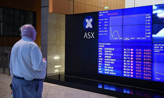 Australian stock market loses more than $60 BILLION in value
