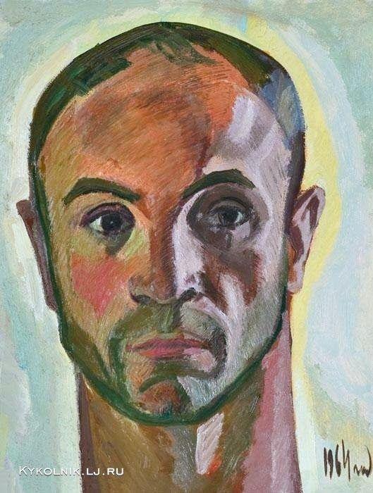 Popkov Victor (USSR, 1932-1974) Self portrait, 1964.   1964 год Попков Виктор Ефимович (Россия, 1932–1974) «Автопортрет».