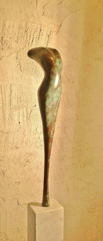 """Saatchi Online Artist: Jan Verhees; """"moongoddess""""; Bronze, Sculpture"""