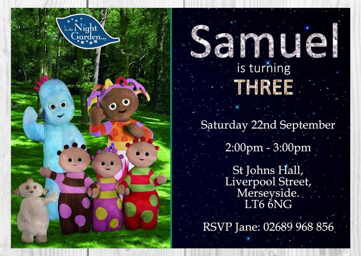 391 best Garden Party images – In the Night Garden Birthday Invitations