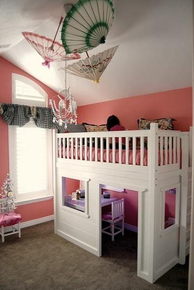 Loft Bed Playhouse By Melba Kids Room Pinterest