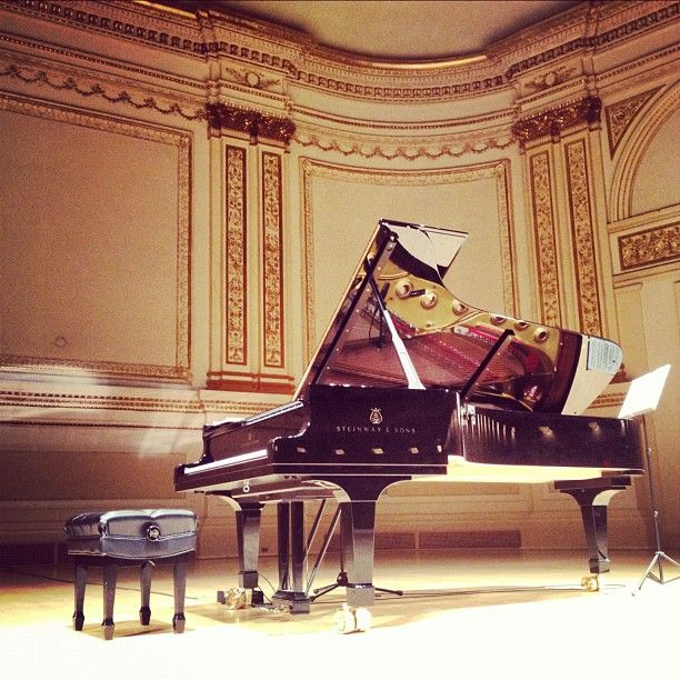If I ever get to go to Carnegie Hall and play that piano, it'll be one of the happiest days of my life.