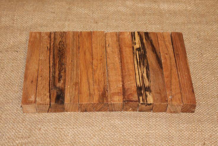 12 Pen Turning Blanks, Blackjack Oak, Wooden Pen Blanks, Pen Making Supplies, Craft Wood, C121 by woodhut on Etsy