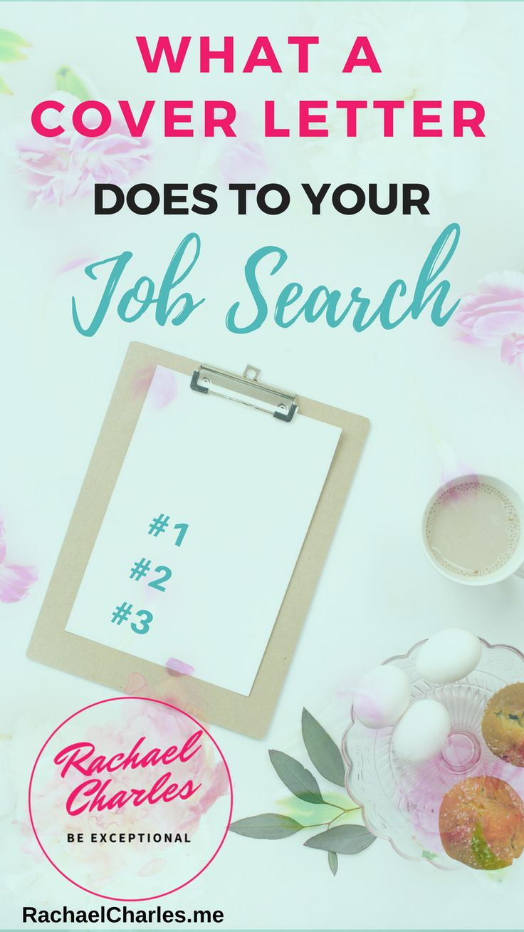 What a Cover Letter Does To Your Job Search - RACHAEL CHARLES