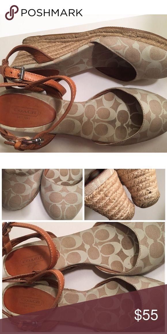 COACH LOGO VALERIE WEDGE ESPADRILLES SHOES SZ 11 COACH VALERIE WEDGE SHOES SZ 11 not new but good condition Coach Shoes Wedges