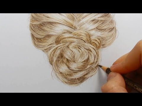 Tutorial | How to draw realistic hair with colored pencils - YouTube                                                                                                                                                                                 More