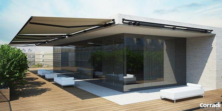 K02 Corradi Skia karos árnyékoló | Exkluzív Pergola és Terasz Árnyékolás - B&B Architektus