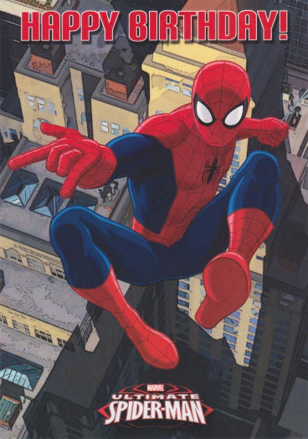 Spiderman Birthday Card Recherche Google Spiderman