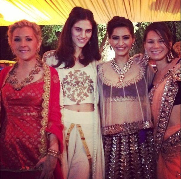 Sonam Kapoor attends cousin brother's wedding ceremony   PINKVILLA