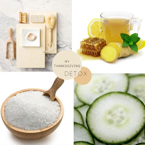 Post-Thanksgiving detox #beauty #detox #michellephan  Drink lots of hot water, ginger, lemon, and honey.  Exfoliate your face and body.  Give yourself a frozen washcloth facial.  Take an Epsom salt detox bath.  Continue to get lots of sleep.