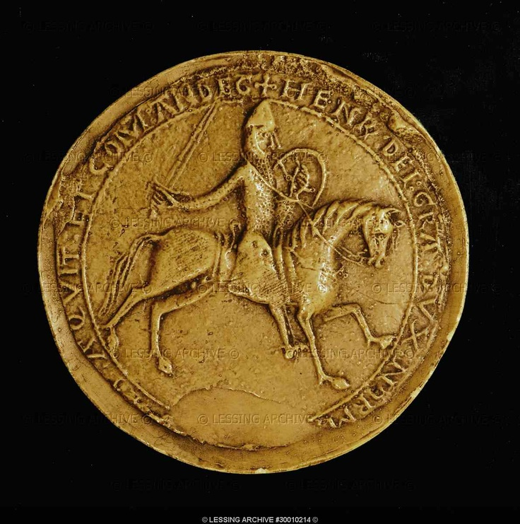 Seal of Henry II Plantagenet (1139-1189). Reverse side,cast.