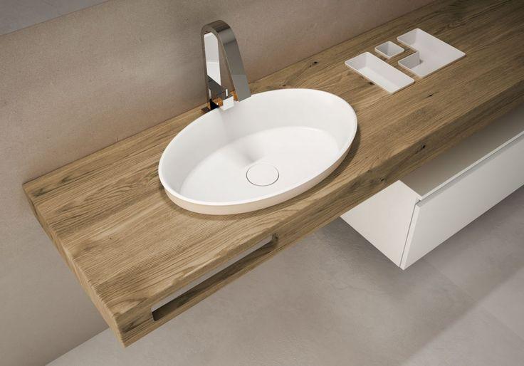 Toema presenta i nuovi ed eleganti mensoloni artigianali in legno massello di rovere e particolari lavabi d'arredo: collezione Very Wood. Lavorazione artigianale e cura nel...