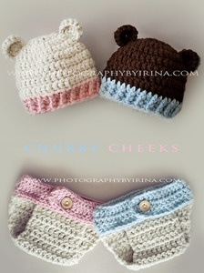 Little bear hats and diaper covers