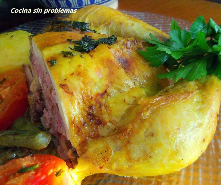 Cocina Sin Problemas: Pollo relleno al horno.