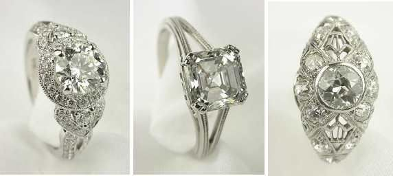 go vintage with your engagement ring.  you'll have something uniquely yours. Added bonus it's recycling