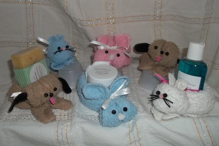 Washcloth pets - aka Boo-Boo pets.: Boo Boo Pets, Aka Boo Boo, Donna Accessories, Washcloth Pets