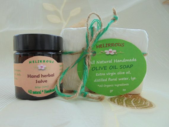 Set of Hand Herbal Salve 30gr 1oz & Soap of Greek by MelirrousBees