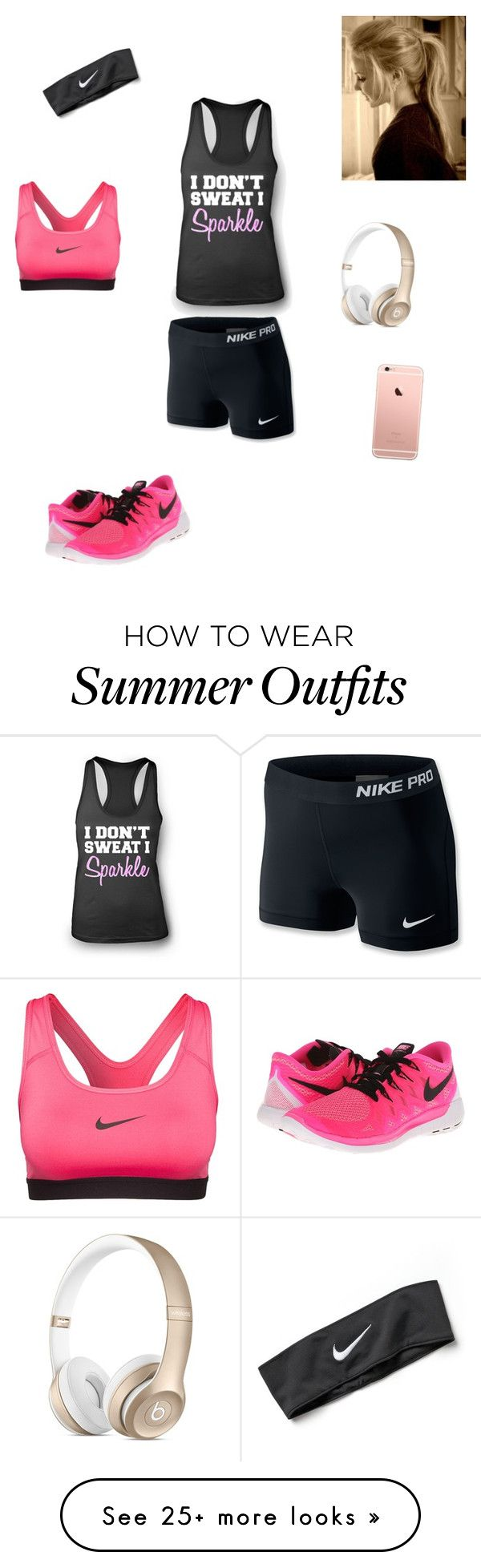 """Workout outfit!"" by music-lover03 on Polyvore featuring NIKE"