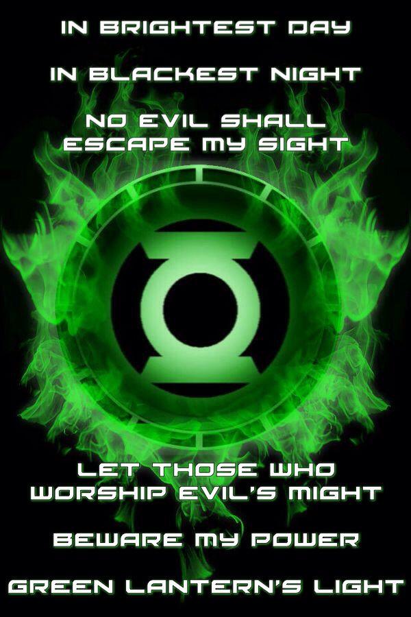 Green Lantern Spruch