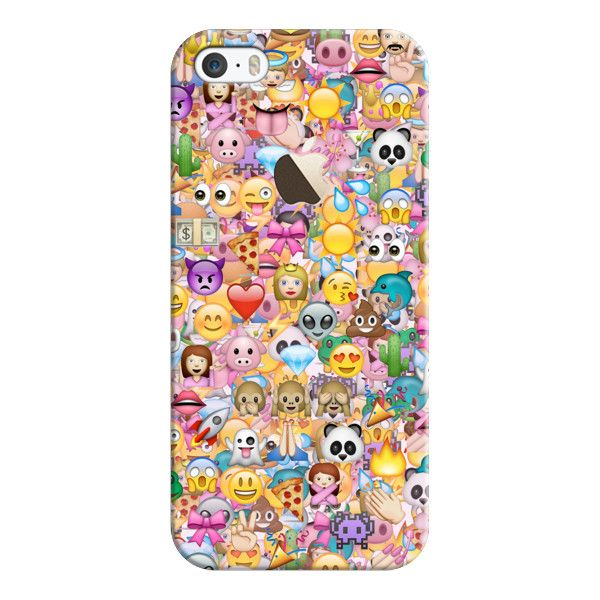 iPhone 6 Plus/6/5/5s/5c Case - EMOJI (with the APPLE logo) ($35) ❤ liked on Polyvore featuring accessories, tech accessories, phone cases, cases, emoji, iphone, iphone case, logo iphone case, apple iphone cases and slim iphone case