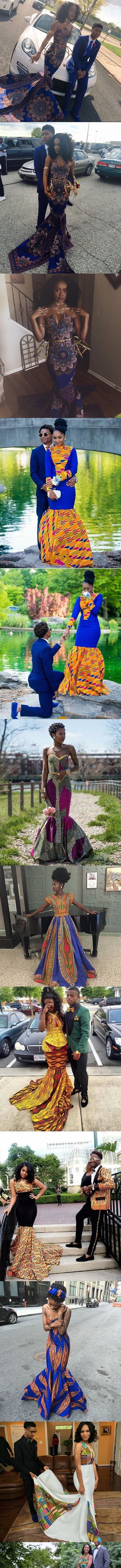 #Prom2016!  Beautiful African Print Prom Dresses