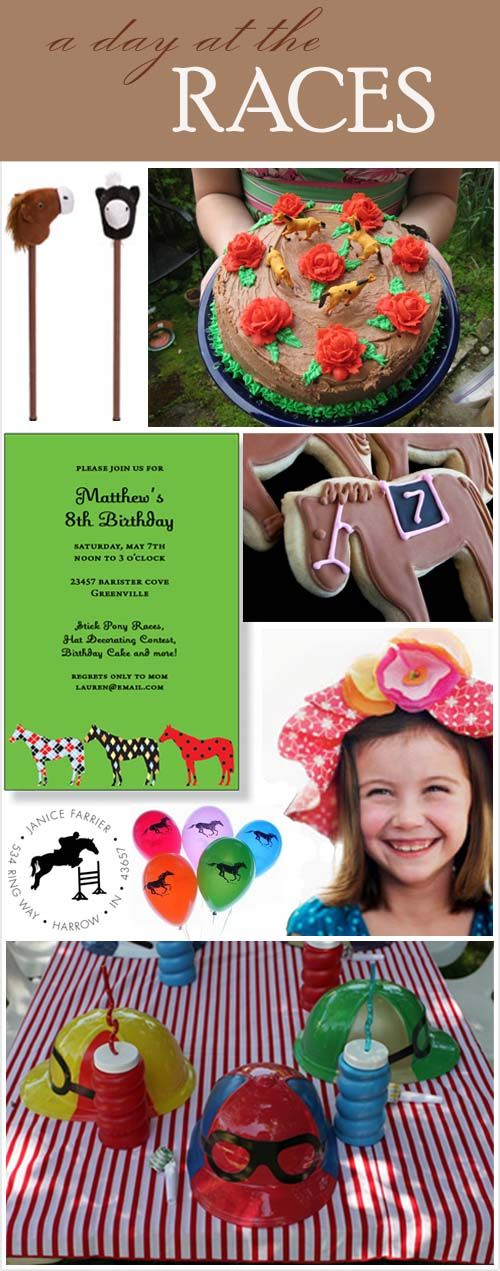Kids Kentucky Derby Party - luv it! Kids should have fun too while the adults place their bets& drink mint juleps