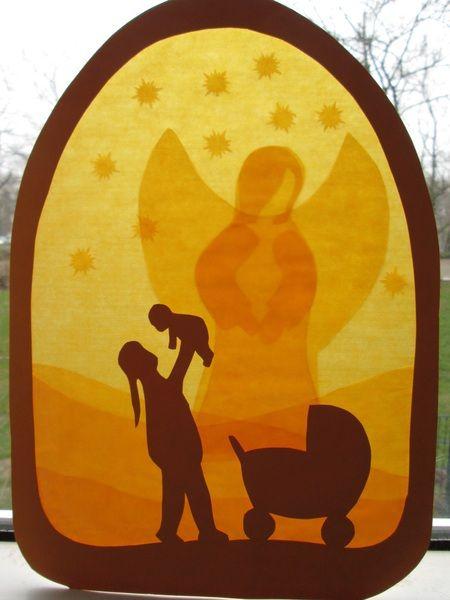 Fensterbild,Geburt,Kind,Waldorf,Transparent,Taufe von Puppenprofi auf DaWanda.com