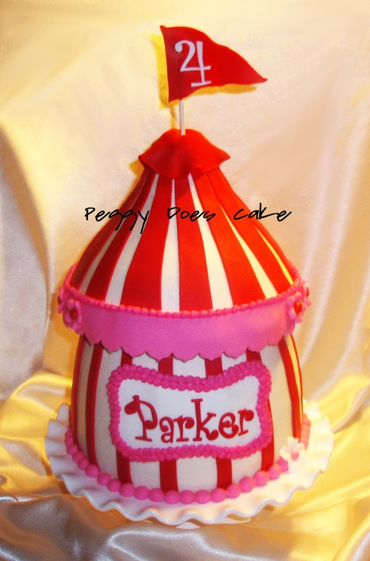 Peggy Does Cake.: Cake Update! Parker's Circus Cake!