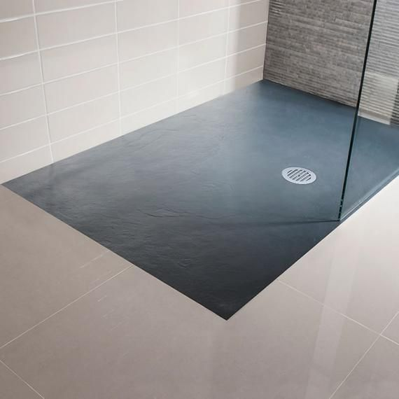 Simpsons 1200 x 800mm grey slate textured effect shower for Slate wet room