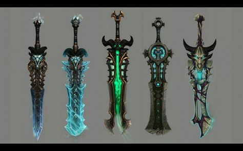 Icebringer and Frostreaper alternative looks. From WoW Legion Expansion