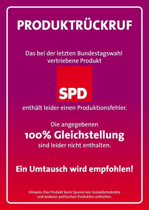 Nach dem Wahlkampf im SPD Design