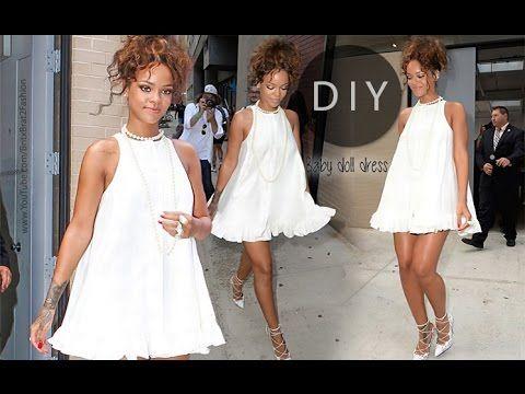 DIY Baby Doll Dress (Rihanna inspired) - YouTube