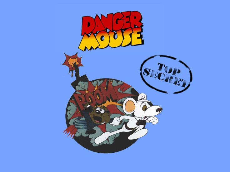 Danger Mouse and his faithful sidekick Penfold. Classic.