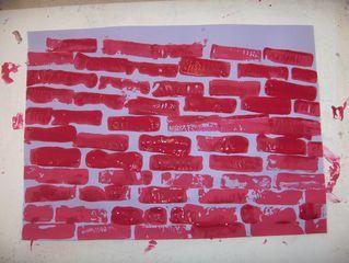 stempelen met blokjes of sponzen>Bob de Bouwer