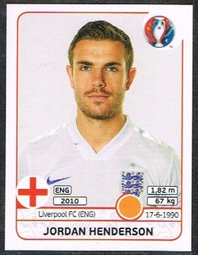 UEFA EURO 2016 Jordan Henderson - 138 #euro2016 #Henderson #defender #stickers…