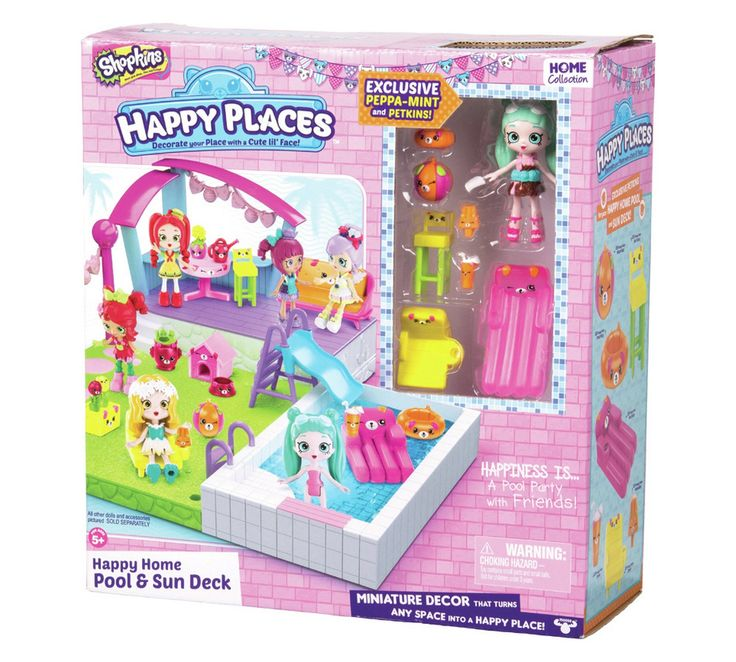 Buy Shopkins Happy Places Pool & Sun Deck Playset at Argos.co.uk, visit Argos.co.uk to shop online for Action figures and playsets, Toys