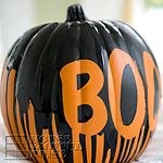 Dripping Paint Pumpkin from House of Joyful Noise