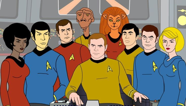 Star Trek Star Trek: The Animated Series Synopsis Star Trek: The Animated Series premiered in 1973 as a Saturday morning cartoon - four years after The Original Series' final season. The series' 22 episodes featured characters voiced by their original actors and was the first Star Trek series to win an Emmy Award. - See more at: http://www.startrek.com/database_article/star-trek-the-animated-series-synopsis#sthash.JFbBskJb.dpuf