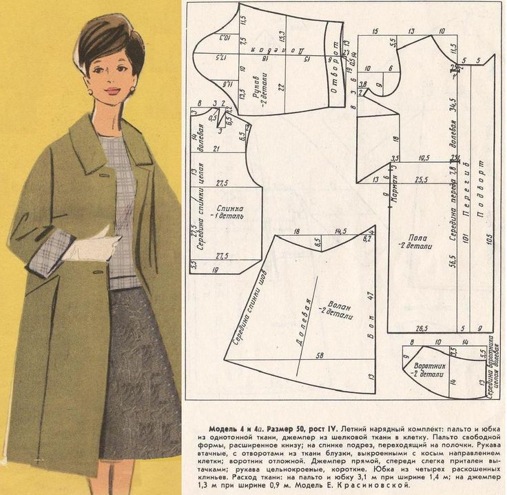 Vintage coat with pockets in seams. Twisted pattern.