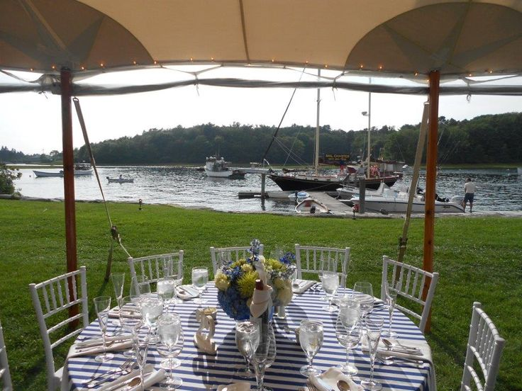 Gorgeous Tented Wedding Reception On The Banks Of Kennebunk River