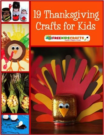 FREE e-Book: 19 Thanksgiving Crafts for Kids!