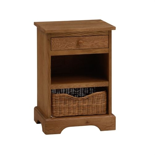 Farmhouse Natural Bedside Table (F631) with Free Delivery | The Cotswold Company