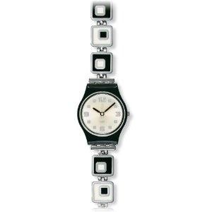 Swatch Ladies Chessboard Silver Dial Bracelet Watch: White Dial, Bracelet, Ladies Watches, Originals Chessboard, Watch Lb160G, Chessboard Ladies, Stainless Steel
