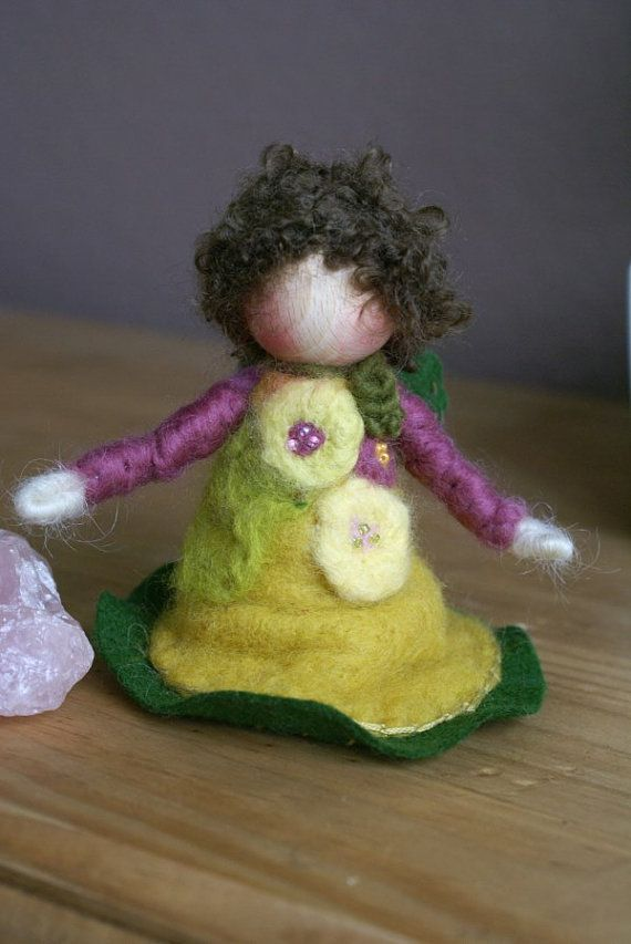 Waldorf Fairy Waldorf Fairies Needle Felt Fairy by tillytilda